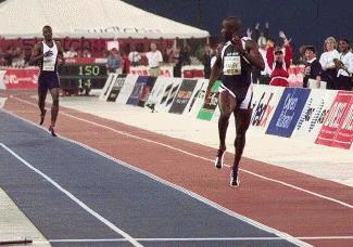 In a Canada vs. USA showdown, Bailey obliterates Johnson in '97, as the American pulled up lame.