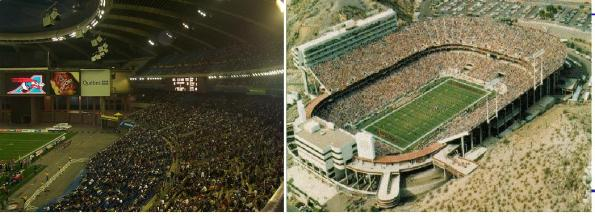 football stadium comparison